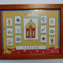 """Picture Frame Grade School Years 12 Photos 15 3/4"""" x 12 3/4"""" - $9.32"""