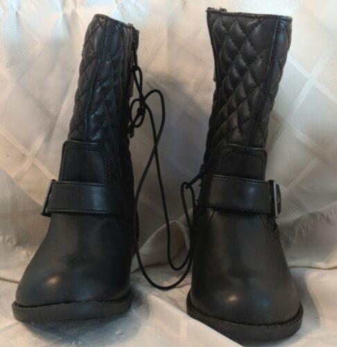 Childrens Black Faux Leather Arizona Jeans Boots Size 12M