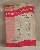 Old Vintage 1970 Sew Knit N Stretch 235 Sewing Pattern Ladies Half Slip ... - $6.92