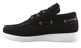 LRG Mangrove Black Leather Suede Boat Shoes Size 9 42 EUR NIB image 4