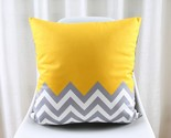 Nordic Style Cushion Cover Geometric Cushion Yellow Decorative Pillows Black Vel