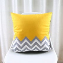 Nordic Style Cushion Cover Geometric Cushion Yellow Decorative Pillows B... - $10.99
