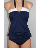 NWT Anne Cole Swimsuit Bikini Tankini 2 pc set Sz L NAWH Bandini - $38.59