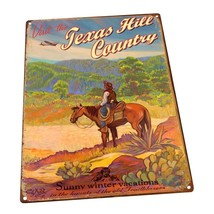 Texas Hill Country Metal Sign; Wall Decor for Vacation Home - $29.69+