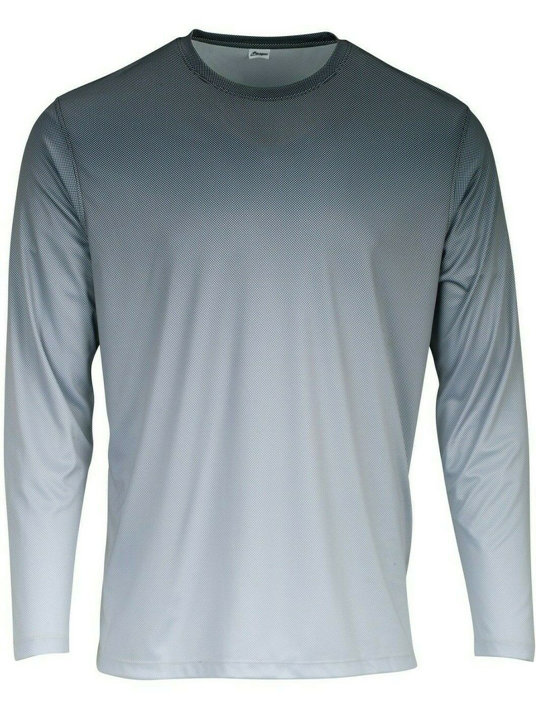 Sun Protection Long Sleeve Dri Fit Graphite Black to Gray fade shirt SPF 50+