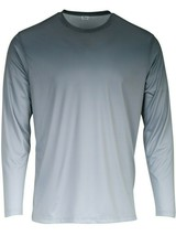 Sun Protection Long Sleeve Dri Fit Graphite Black to Gray fade shirt SPF 50+ image 1