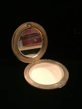 Vintage 1940s Tan Leather Horse Portrait Makeup Compact with Mirror image 3