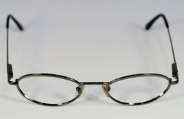 Fossil TAOS Shiny Gunmetal Metal  Eyeglass Frames Designer Style Rx Eyewear - $9.12