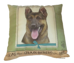 German Shepherd Throw Pillow A Home Without is Just a House Dog Paw Prin... - $19.79