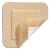 "Mepilex Border Lite Silicone Foam Dressing 4"" x 4"" - Box of 5"
