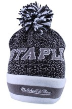 Staple Breakaway Mitchell Ness Respect All Fear None Charcoal Pom Beanie Hat NWT image 2