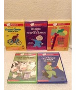 Lot of 5 Sealed Scholastic Harold the Purple Crayon Curious George rides... - $39.97