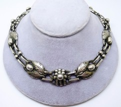 Georg Jensen Sterling Necklace #1 with Leaves and Berries (#J3333) - $2,750.00