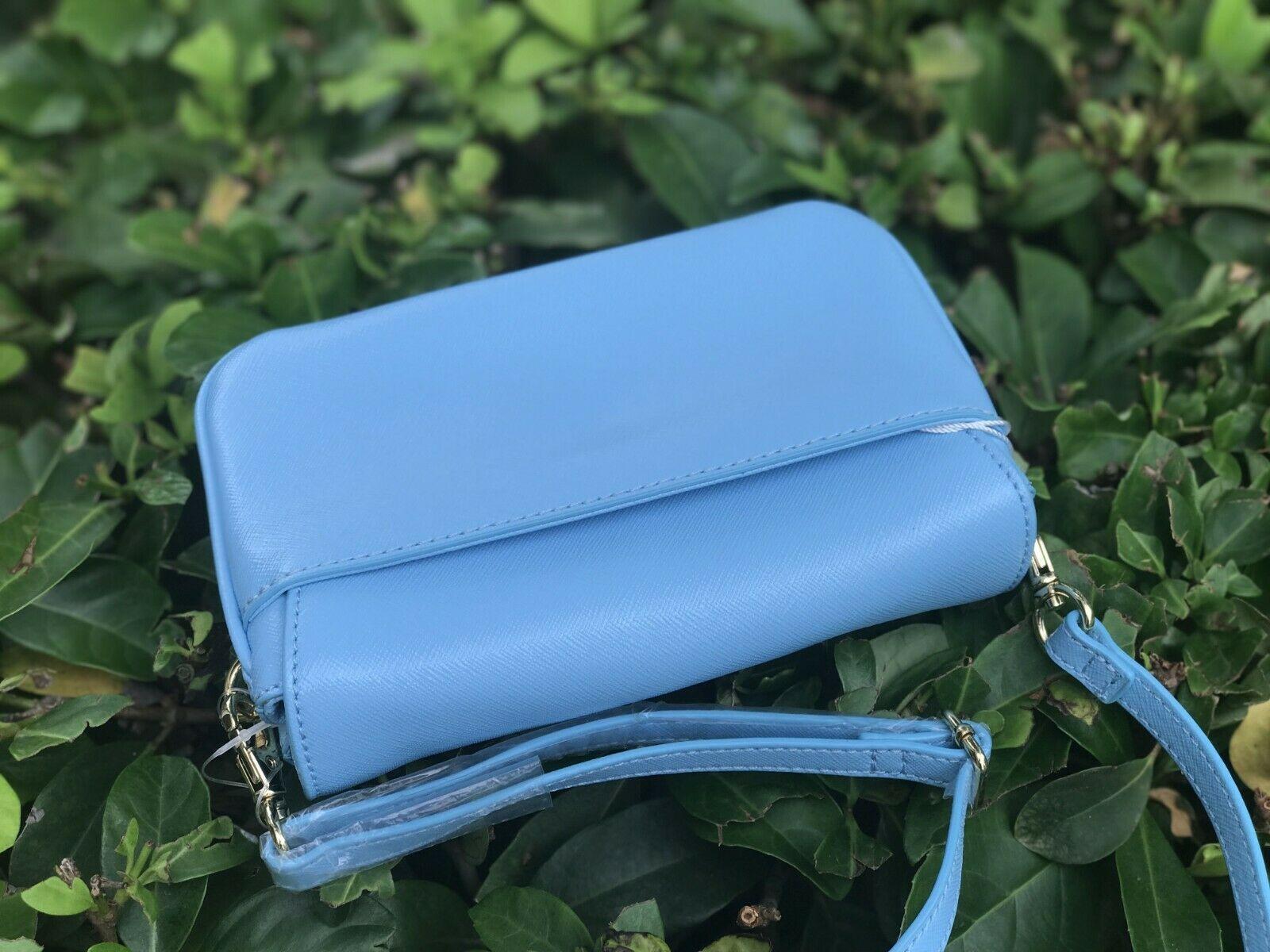 Tory Burch Robinson Cross Body Bag Morning Sky Light Blue Small Handbag