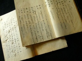 Crude drug Guide for Doctor Handwritten Manuscript Medical book Dutch Ja... - $377.00