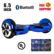 "Chrome Blue Bluetooth LED Hoverboard Two Wheel Balance Scooter 6.5"" - $249.00"
