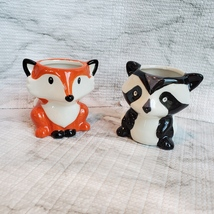 Animal Planters with Succulents, Fox and Raccoon, 3 inches, ceramic image 3