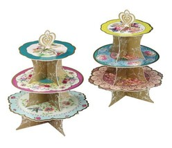 Scrumptious Floral Cake Stand 3 Tier Tray Tea Party Wedding Birthday Mul... - $27.06