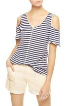 Sanctuary Dahlia Stripe Cold Shoulder Tee White/Havana Size XL Shirt - $... - €17,62 EUR