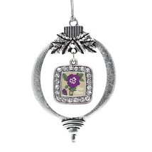 Inspired Silver Step Mom Pansy Classic Holiday Decoration Christmas Tree Ornamen - $14.69