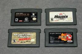 Nintendo Game Boy Advance: 4 Game Lot - Star Wars + Monster Truck Madnes... - $12.00