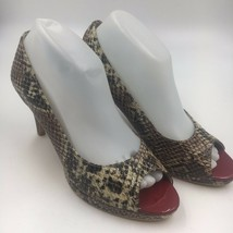 Womens Bandolino Snake Skin Pumps Career Platform NWOB Open Toe 8M - $19.00