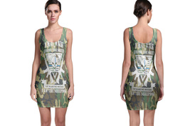 Military Camo SheepDog Bodycon Dress - $19.80+
