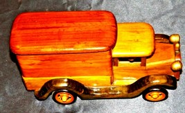 Wooden Toy Milk Truck AA19-1569 Vintage image 2