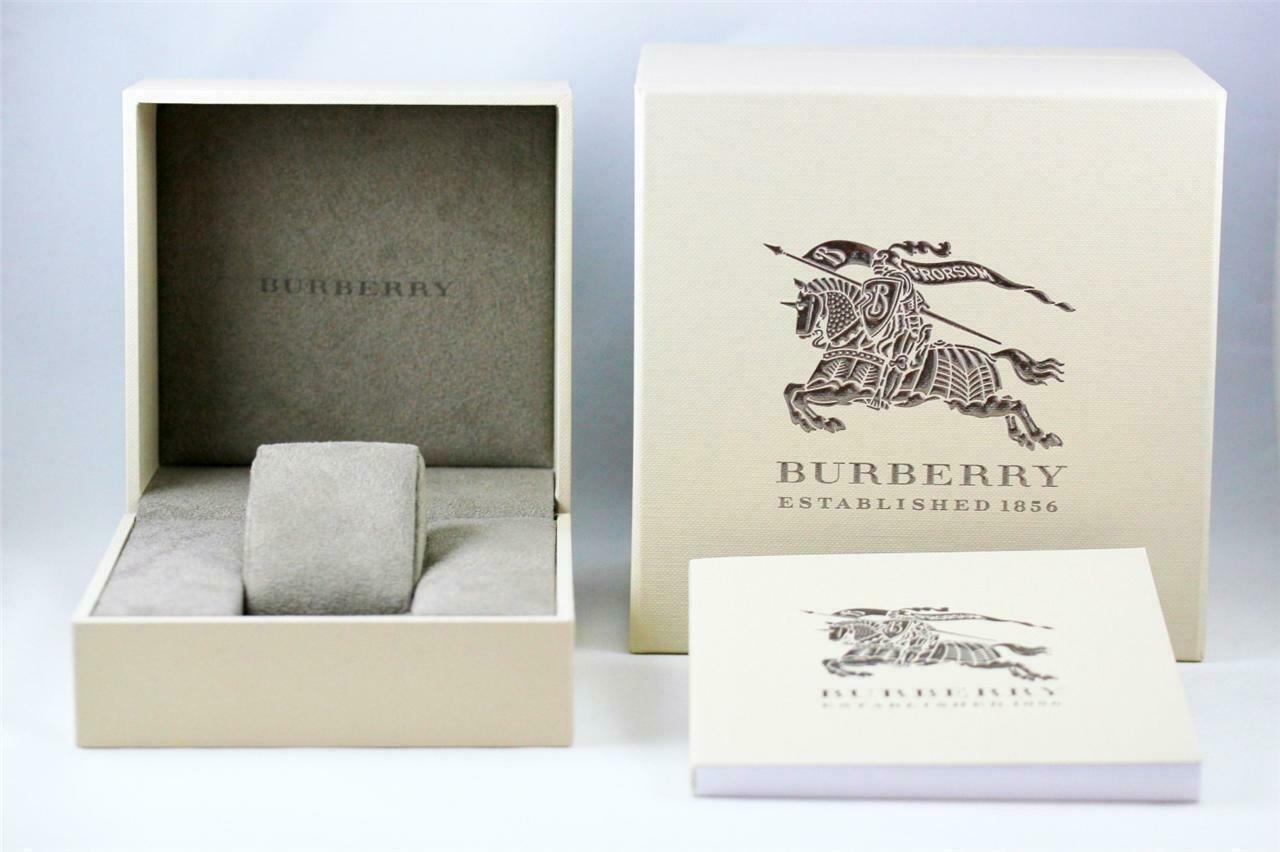 Burberry BU9012 Check White Leather Strap Womens Watch