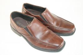 Men's Bostonian Flexlite Brown Leather Elastic-side Slip-on Loafers 9M  - $24.99