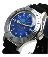 Vostok Amphibian 120656 /2415 Military Russian Diver Watch Scuba Dude Blue - £53.57 GBP