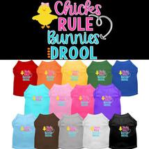 Mirage Chicks Rule Bunnies Drool Screen Print Dog Shirts - $20.00