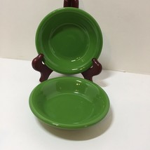 "2 Fruit Dessert Bowls Shamrock Green Homer Laughlin Fiesta Lead Free 5.25"" - $14.50"