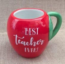 Best Teacher Ever Red Apple Mug Coffee Cup Appreciation Gift Drinkware  - $17.81