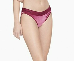 Calvin Klein Women's Modern Cotton Velvet Ribbed Bikini Panties, Wine , ... - $18.80