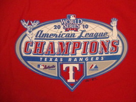 MLB Texas Rangers 2010 World Series American League Champions Fan T Shir... - $18.80