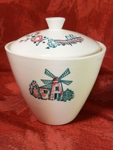 VINTAGE WINDMILL COVERED SUGAR BOWL MADE IN USA image 1