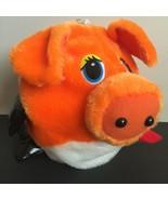 Plush Pig Toy Empty Shell Zipper Holiday Christmas Stocking Animal Santa... - $13.39