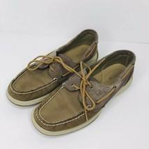 Sperry Top Sider Women's Intrepid Glitter Greige Boat Shoe Size 9.5 - $24.70
