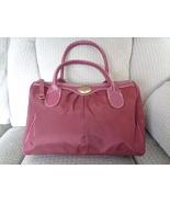 Victoria's Secret Satchel Cranberry Mauve Love Purse Dr Bag Tote - $24.97
