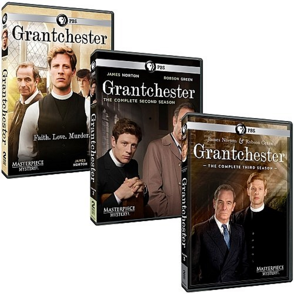 Grantchester complete series season 1 3 dvd bundle  2017 7 disc  1 2 3 5