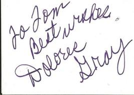 Dolores Gray Signed Vintage 3x5 Index Card JSA Destry Rides Again - $49.49