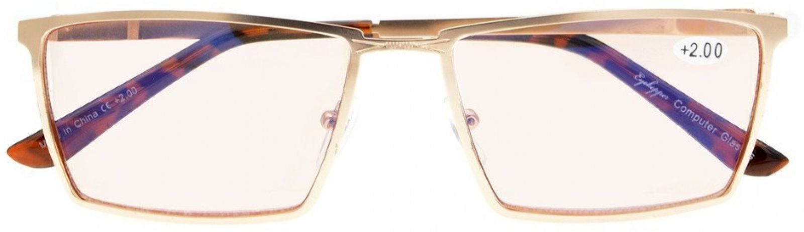 Eyekepper 4-Pack Mens Reading Glasses Spring Hinges Included Tinted Lens +0.75 image 5