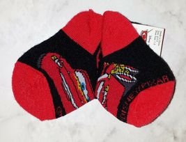 Disney Pixar Cars Lightening McQueen Black Red White Boy's 4-5.5 Ankle Socks image 4