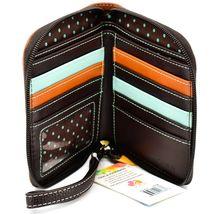 Chala Handbags Faux Leather Hedgehog Brown Zip Around Wristlet Wallet image 3