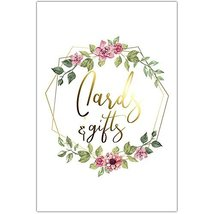 Floral Polygon Wedding Ceremony Cards and Gifts Sign Poster - $12.38