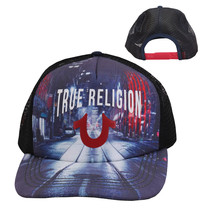 True Religion Men's City Digital Print Logo Cap Sports Snapback Trucker Hat image 1