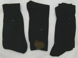 S82 - Gold Toe Socks Dress 3 Pack Black 10-13 - $9.95