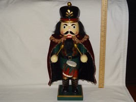 "Wooden Nutcracker Kirkland Signature Drummer Christmas Decoration 18"" 90... - $29.87"