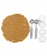 Gold Sealing Wax Beads, Yoption 300 Pieces Octagon Seal Wax Beads with 4... - $11.78